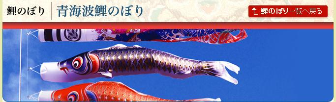 青海波鯉のぼり